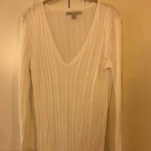 NWOT old navy summer sheer long sleeved v neck L
